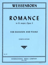 Julius Weissenborn - Romance in Eb major op. 3 - Partition - di-arezzo.fr