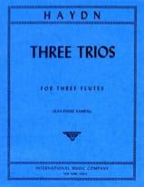 3 Trios - 3 Flutes HAYDN Partition laflutedepan.com