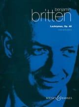 Lachrymae op. 48 – Viola piano - Benjamin Britten - laflutedepan.com
