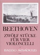 12 Stücke – 4 Violoncelli BEETHOVEN Partition laflutedepan.com