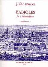 Babioles Op.10 Jacques Christophe Naudot Partition laflutedepan.com