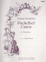 Canon – Viola - Johann Pachelbel - Partition - Alto - laflutedepan.com