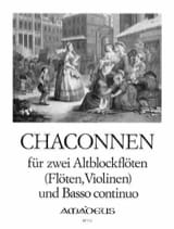 - Chaconnen - 2 Altblockflöten und Bc - Sheet Music - di-arezzo.co.uk