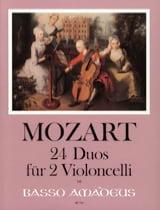 Wolfgang Amadeus Mozart - 24 Duos für 2 Violoncelli - Partition - di-arezzo.fr