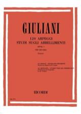 Mauro Giuliani - 120 Arpeggi - Studi sugli abbellimenti dall'op. 1 - Partitura - di-arezzo.es