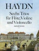 Joseph Haydn - 6 Trios – Flöte Violine Violoncello - Partition - di-arezzo.fr