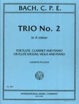 Trio n° 2 a minor - Flute violin clarinet viola piano laflutedepan