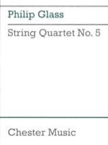 String quartet n° 5 - Score GLASS Partition laflutedepan