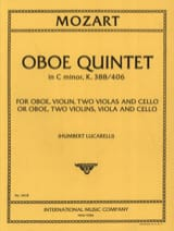 MOZART - Oboe Quintet C minor KV 388/406 - Parts - Sheet Music - di-arezzo.com