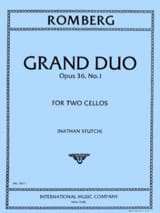 Bernhard Romberg - Grand Duo op. 36 n° 1 - Partition - di-arezzo.fr
