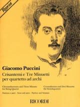 Crisantemi e Tre Minuetti –Quartetto d'archi –Partitura e parti - laflutedepan.com