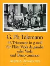 Triosonate Nr. 46 g-moll –Flöte, Viola da gamba o. Viola u. Bc - laflutedepan.com