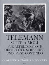 TELEMANN - Suite En la Mineur - Conducteur - Partition - di-arezzo.fr
