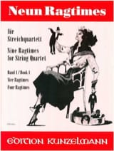 Werner Thomas-Mifune - 9 Ragtimes für Streichquartett, Band 1 - Partition - di-arezzo.fr