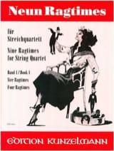 9 Ragtimes für Streichquartett, Band 1 - laflutedepan.com
