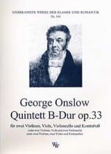Georges Onslow - Quintett B-Dur op. 33 –Stimmen - Partition - di-arezzo.fr
