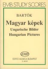 Béla Bartok - Magyar Képek – Partitur - Partition - di-arezzo.fr
