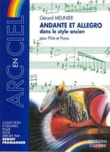 Gérard Meunier - Andante and Allegro - Sheet Music - di-arezzo.co.uk