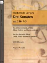 Philbert de Lavigne - 3 Sonaten op. 2 - Nr. 1-3 - Altblockflöte u. bc - Partitura - di-arezzo.es