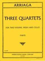 3 Quartets –Parts - Juan Crisostomo de Arriaga - laflutedepan.com