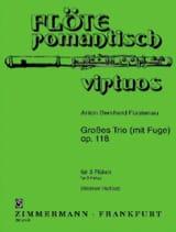 Anton Bernhard Fürstenau - Grosses Trio (mit Fuge) op. 118 - 3 Flöten - Partition - di-arezzo.fr