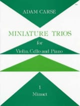 Miniature Trios 1. - Minuet Adam Carse Partition laflutedepan.com