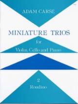 Adam Carse - Miniature Trios 2. - Rondino - Partition - di-arezzo.fr