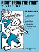 Right from the Start – 2 Violins - Sheila M. Nelson - laflutedepan.com