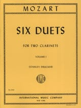 MOZART - 6 Duets - Volume 1 - 2 Clarinets - Partition - di-arezzo.fr