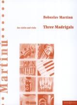 3 Madrigals - Bohuslav Martinu - Partition - Duos - laflutedepan.com