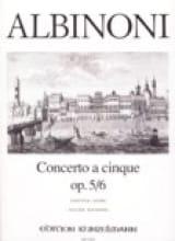 Tomaso Albinoni - Concerto a cinque op. 5/6 – Conducteur - Partition - di-arezzo.fr