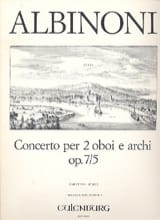 Tomaso Albinoni - Concerto for 2 oboi e archi op. 7/5 - Driver - Sheet Music - di-arezzo.co.uk