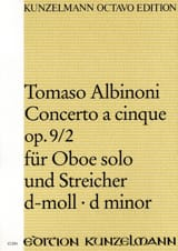 Tomaso Albinoni - Concerto a cinque op. 9/2 for Oboe solo and Streicher d-moll - Conductor - Sheet Music - di-arezzo.co.uk
