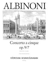 Tomaso Albinoni - Concerto a cinque op. 9/7 - Conducteur - Partition - di-arezzo.fr