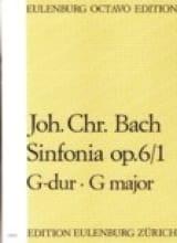 Johann Christian Bach - Sinfonia op. 6 n° 1 G-Dur - Partition - di-arezzo.fr