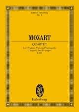 Quatuor en Ut Majeur K 465 Dissonances - Conducteur laflutedepan.com