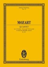 MOZART - Streichquartett D-Moll Kv 421) - Conducteur - Partition - di-arezzo.fr