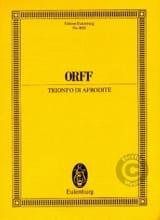 Trionfo Di Afrodite - Conducteur Carl Orff Partition laflutedepan.com