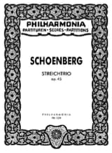 Arnold Schoenberg - Streichtrio op. 45 - Partitur - Noten - di-arezzo.de