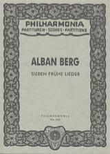 Sieben frühe Lieder - Partitur Alban Berg Partition laflutedepan.com