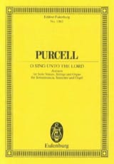 Henry Purcell - Singt, singet dem Herrn - Partition - di-arezzo.fr