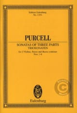 Henry Purcell - Sonates A Trois Voix, N° 1 A 6 - Partition - di-arezzo.fr