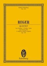 Quintett A-Dur, Op. 146 Max Reger Partition laflutedepan.com
