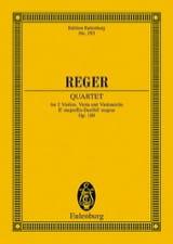 Max Reger - Streichquartett Es-Dur, op. 109 -Partitur - Partition - di-arezzo.fr