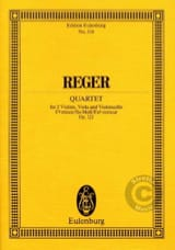Streichquartett fis-moll, op. 121 -Partitur Max Reger laflutedepan