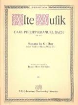 Carl Philipp Emanuel Bach - Sonata G-Dur a 2 violini e basso Wq 157 - Partition - di-arezzo.fr