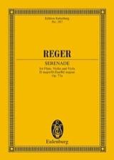 Max Reger - Trio D-Dur, op. 77a – Partitur - Partition - di-arezzo.fr