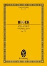 Max Reger - Variationen und Fuge, op. 132 - Partition - di-arezzo.fr