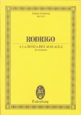 Joaquín Rodrigo - A la busca del más allá - Partition - di-arezzo.fr
