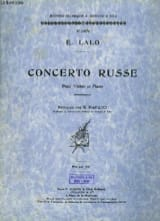 Edouard Lalo - Russian Concerto op. 29 - Sheet Music - di-arezzo.co.uk